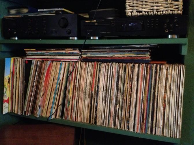 Parent's record shelves