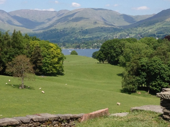 The view from Wray castle yesterday