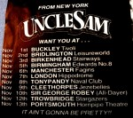 Uncle sam 01jatstoreyLine-up changesThey were right, it was messy!Live Review - ending with band slumped drunk over table - Hmm ...Some iconoclastic views on Alice Cooper
