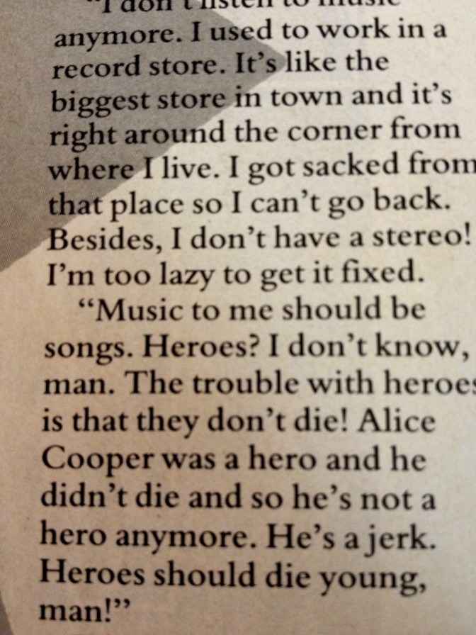 Some iconoclastic views on Alice Cooper