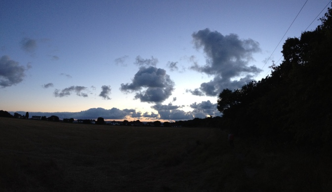 I'm big on moody skies and this pic (taken whilst dog walking tonight) fits the music