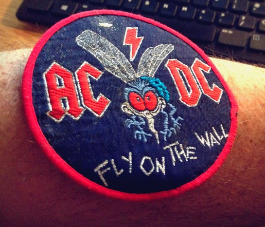 I briefly consider sewing patch onto my muscular forearm, as sign of my devotion to LP