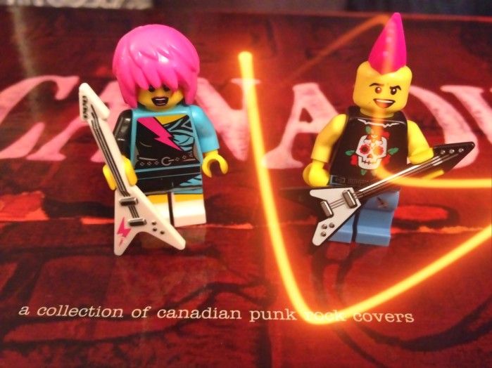 Some stereotypical Canadian punks, yesterday
