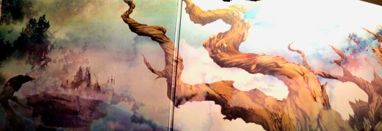 My, quite frankly, rubbish attempt to use the panorama function on my 'phone to capture the whole gatefold.