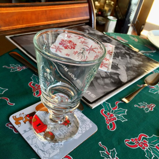 Traditional place-setting at the 1537 Christmas table