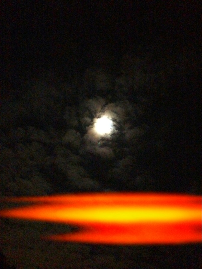 Dark, man, dark. Clouds over the moon a few nights ago.