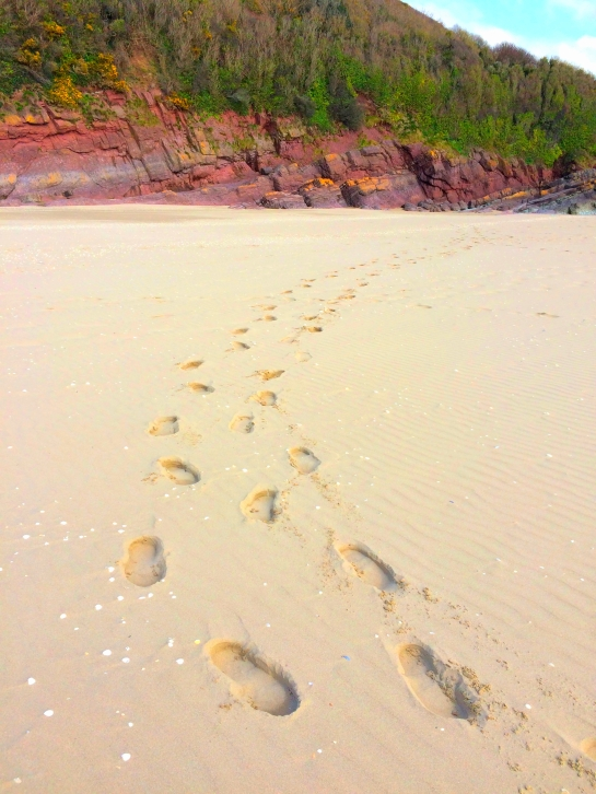Footprints, my mother and I