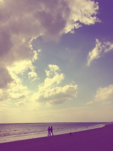 Wife, daughter and dog