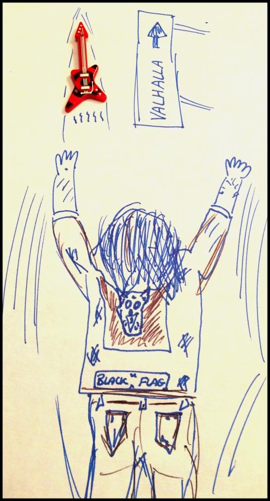 (crap) Artist's impression of Josh Landau flying to a gig