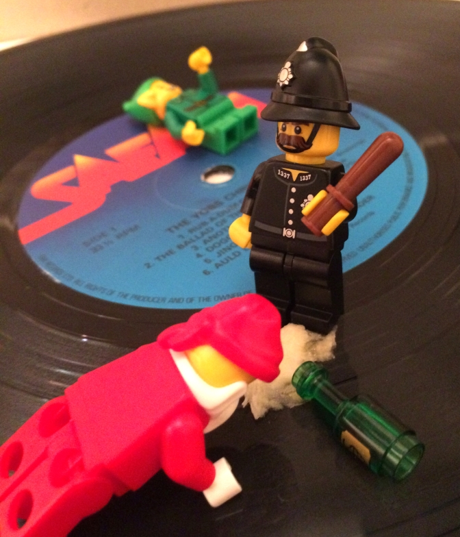 being sick on the policeman's shoes wasn't a clever move, was it Santa?