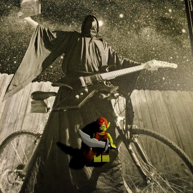 Behold Lord Phallus! on a push bike.